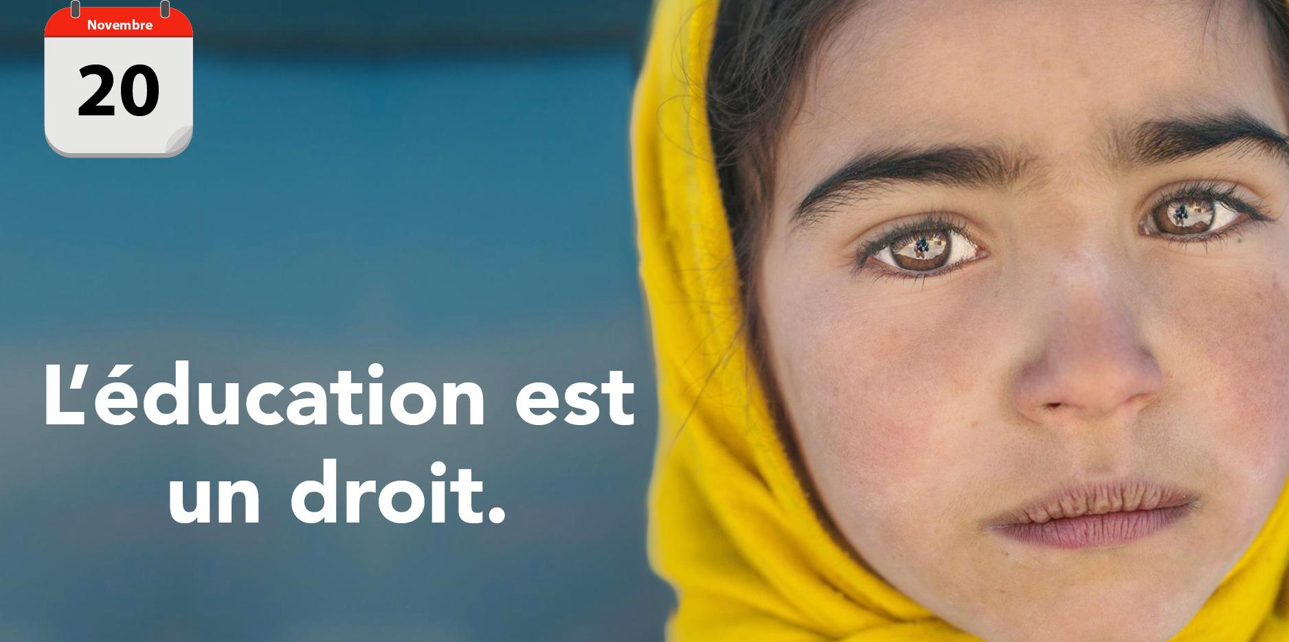 Le 20 novembre marque la journée internationale des droits de l'enfant