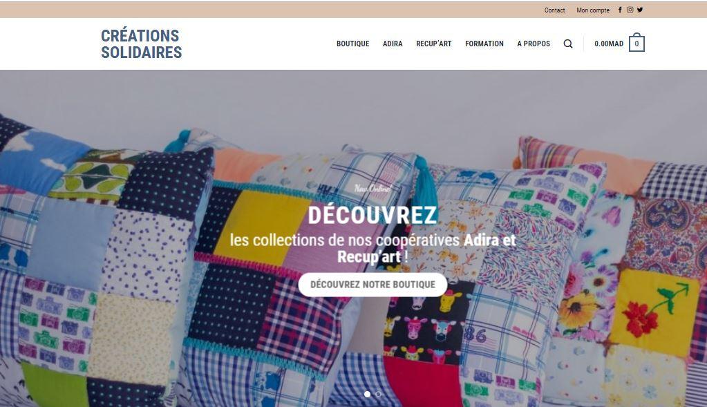 Lancement du site « Créationsolidaires.ma » par Adira & Recup'Art