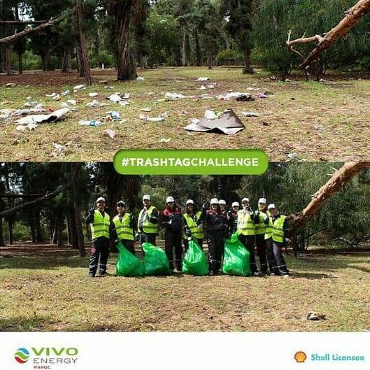 Défi « Trash challenge » relevé pour Vivo Energy et la Fondation Zakoura !