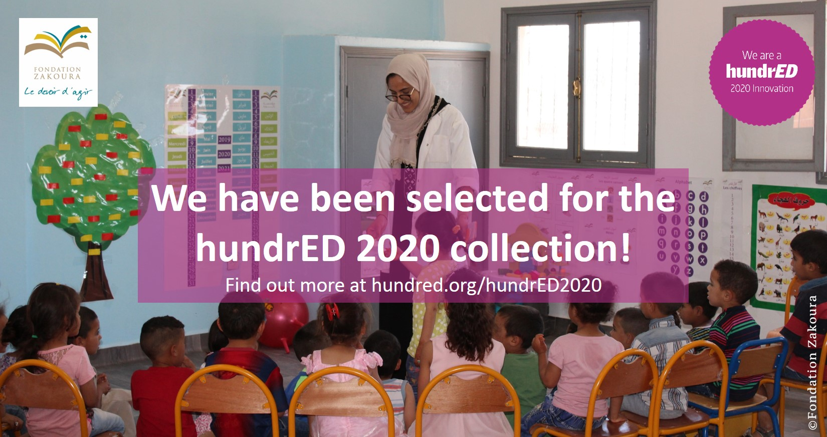 HundrED - Nouvelle distinction internationale pour la Fondation Zakoura