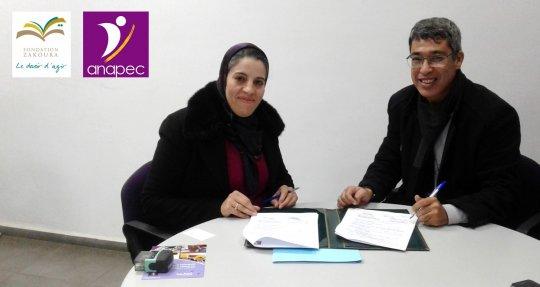 Nouveau partenariat avec l'ANAPEC au profit des jeunes bénéficiaires du Centre RRV
