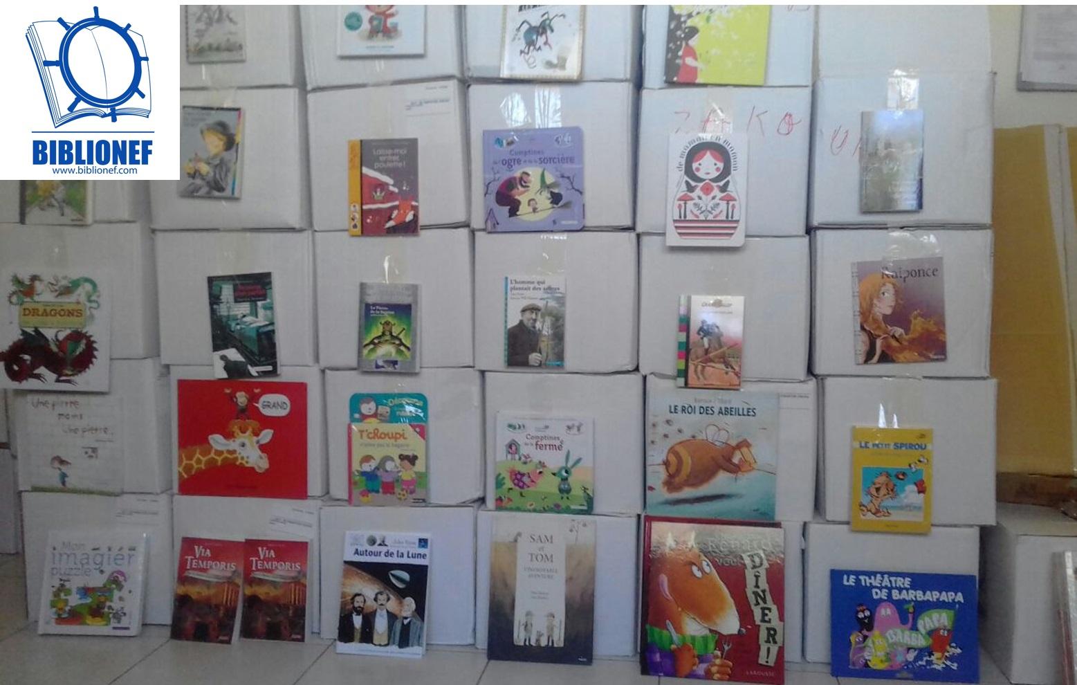 Biblionef offre 7 000 livres aux enfants de la Fondation