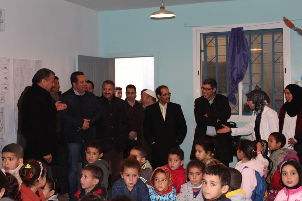 Inauguration de l'Ecole Boutbira par la Fondation CDG et la Fondation Zakoura