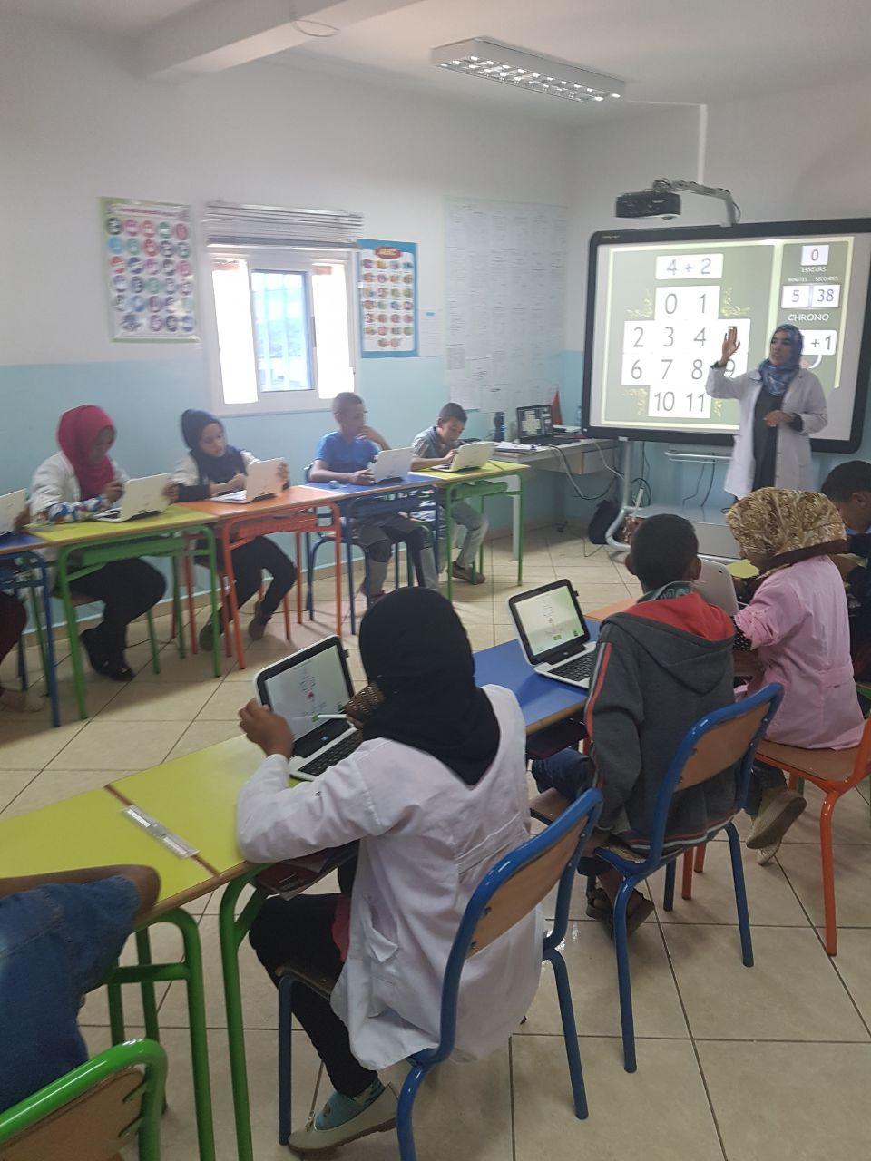 Inauguration de l'Ecole Non Formelle numérique de la Fondation Société Générale & de la Fondation Zakoura