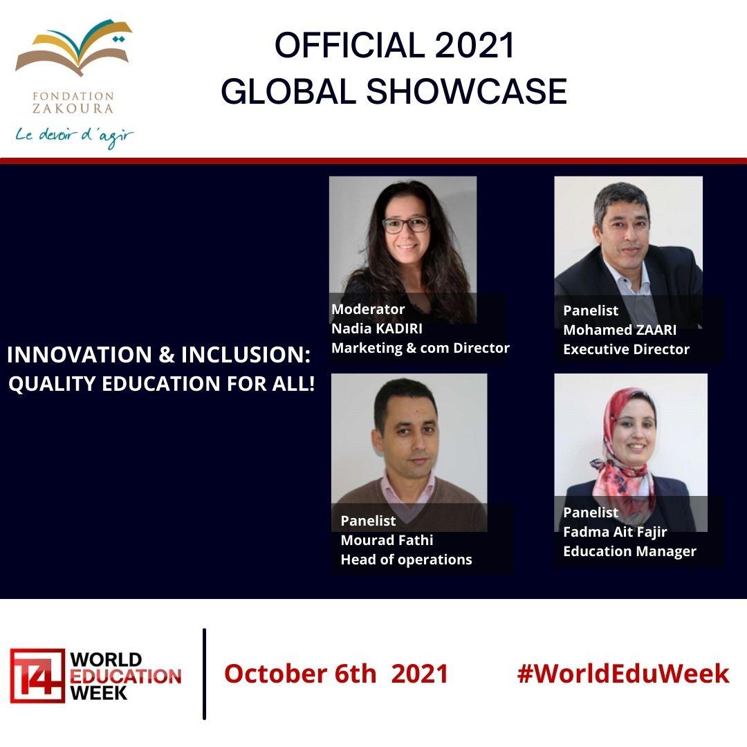 Webinaire Inclusion & Innovation de la Fondation à la #WorldEduWeek