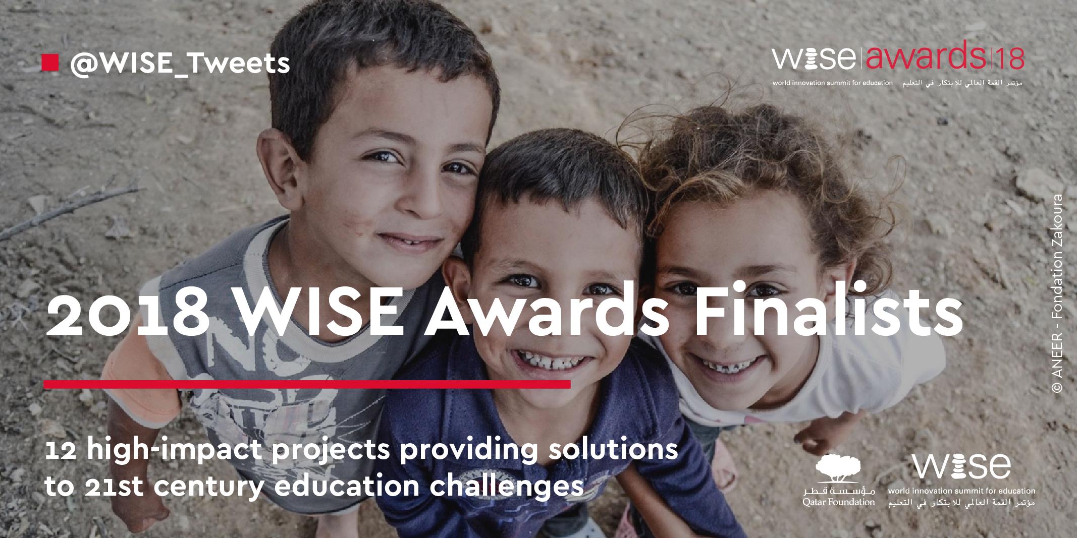 ANEER sélectionné parmi les 12 finalistes du WISE Awards 2018