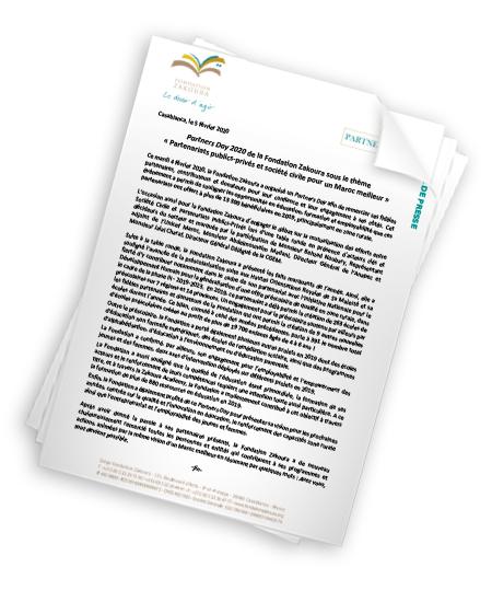 Partners Day 2020 sous le thème « Partenariats publics-privés et société civile pour un Maroc meilleur »