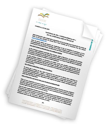 Lancement du site www.Créationsolidaires.ma