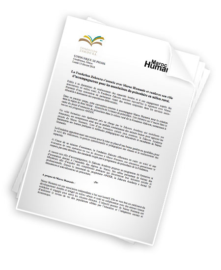 مؤسسة زكورة توقع اتفاقية شراكة مع جمعية « ماروك يومانيس » و تعزز مواكبتها لجمعيات التربية ما قبل المدرسة بالمجال القروي