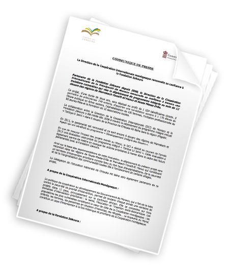 La Direction de la Coopération Internationale Monégasque renouvelle sa confiance à la Fondation Zakoura