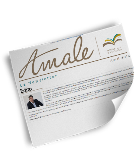 Newsletter Amale – Avril 2016